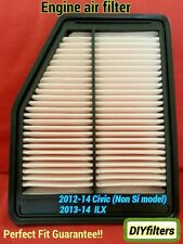 AF6171 CIVIC 2012-14 (NO Si or Hybrid model) & ILX 2013-14 Engine Air Filter