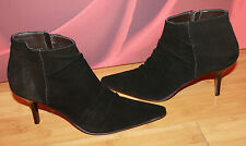 Very dark brown black JFW pointy ankle boots uk 7 eu 41 VGC B20