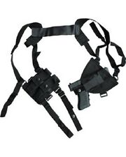 KOMBAT COVERT CROSS DRAW SHOULDER HOLSTER WITH DOUBLE MAG POUCH BLACK