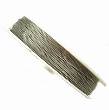 100 Metres Silver Tigertail Wire 0.45mm - Beading Wire