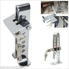 Car Truck Brake Pedal Security Lock Clutch Lock Anti-Theft Stainless Steel 8Hole