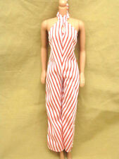 1977 Superstar Era Barbie Best Buy Oufit #9958 White Red Stripe Jumpsuit