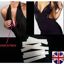 Fashion Double Sided Body Tape Clear Toupee Boob Wig Secret Dress Tape strip UK