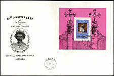 Barbuda 1978 QEII, 25th Anniv Of Coronation M/S FDC First Day Cover #C35111