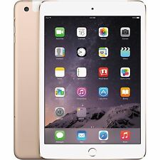 Apple iPad mini 3 16GB, Wi-Fi + 4G Cellular (Unlocked), 7.9in - Gold TouchI