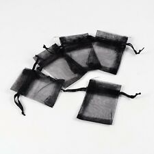 100PCS  Black Jewelry Wrapping Package Wedding Party Gifts Organza Bags 5x7cm