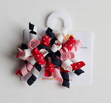 New Gymboree Curly Barrette Clips Hair Accessory NWT Cherry Cute Girls Ribbons