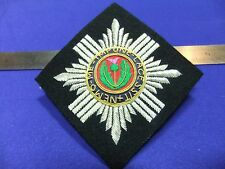 vtg badge patch scots guards padded embroidered bullion cloth army military