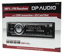CAR RADIO STEREO MEDIA PLAYER +2YR WARNTY MP3 RECEIVER WITH USB PORT AND SD CARD