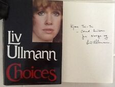Liv Ullmann SIGNED Book Autobiography Broadway Personal Lovers  HC/DJ