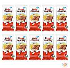 10x Chocolate Bars KINDER COUNTRY Puffy Rice & Rich Milk Filling 24g 0.85oz