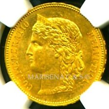 SWITZERLAND 1891 B GOLD COIN 20 FRANCS * NGC CERTIFIED GENUINE MS 61 * EXQUISITE