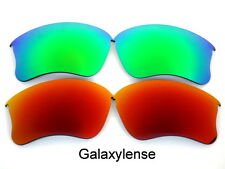 Galaxy Replacement Lenses For Oakley Flak Jacket XLJ Green&Red Polarized 2Pair