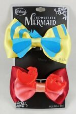 Disney Little Mermaid Flounder &  Sebastian 2 Pack Cosplay Hair Bow Pin Costume
