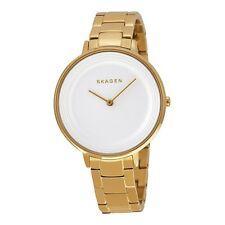 Skagen SKW2330 Ditte White Textured Dial Gold Tone Bracelet Ladies Steel Watch