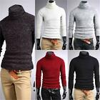 Men Casual Slim Long Sleeve Solid T-shirts Tee Turtleneck Polo Blouse Shirt Q