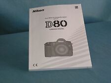 NIKON D80 MANUAL IN SPANISH GREAT CONDITION