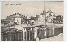 CARTOLINA CALUSO STAZIONE FERROVIARIA RIF. 15157