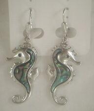 Earrings Seahorse Abalone Shell new sea horse