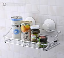 STORAGE STAINLESS BASKET SCREW IN SUCTION CUPS FOR KITCHEN BATHROOM SHOWER 007