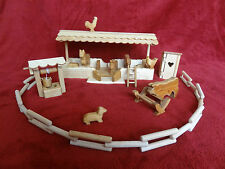Wooden toy farm with animals, handmade, hand crafted, high quality