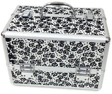 GRANDE Floreale Bianco Scatola Cosmetici Beauty Make Up Beauty Case Nail TECH Saloon Bag