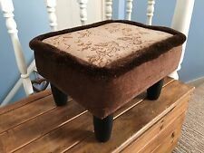 Lovely Foot Rest Stool Reupholster Shabby Chic Project