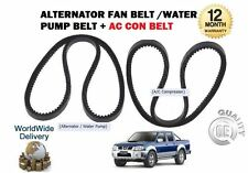FOR NISSAN 2.5DT D22 PICKUP NAVARA 2001-2008 ALTERNATOR FAN BELT + AIR CON BELT