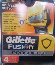 Gillette Fusion PROSHIELD Authentic Refill Blades 4 Cartridges Free S/H