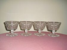 4 IMPERIAL Cape Cod Clear Glass Sherbet / Dessert Dishes / Goblets