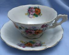Occupied Japan Vintage Porcelain Floral Cup and Saucer