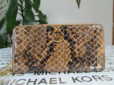NWT Michael Kors Embossed Leather Fulton Large Coin Multifunction Phone Wallet