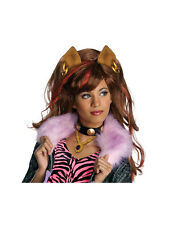 Clawdeen Wig Wolf Fancy Dress Monster High Halloween Kids Costume Accessory