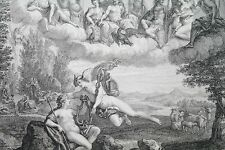 Delaunay le Jeune d'ap Albane Gravure XVIIIe SCÈNE MYTHOLOGIE GRECQUE OLYMPE
