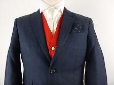 """Next Mens Slim Fit Suit Jacket Blazer Chest Size 38"""" S Linen Blend"""