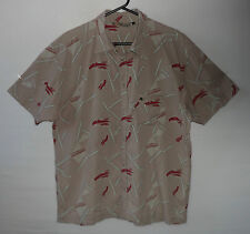 "QUIKSILVER car motoring graphic Hawaiian shirt  UK XL US L 48"" 122 cm H3 popper"