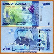 Uganda, 2000 (2,000) Shillings, 2010, P-50, AA-Prefix, UNC