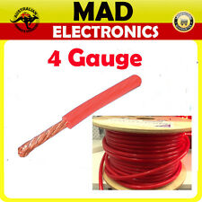 1M x 4 Gauge AWG Car Subwoofer AMP Wiring Wire Power Ground Cable 110Amp RED