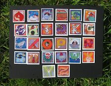 "phish alPHabet MAGNETS 2""x2"" full set of 26 letters  ( by KERRIGAN )"