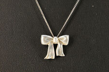 Authentic TIFFANY & Co. SILVER925 Ribbon Necklace Free Ship 659k10