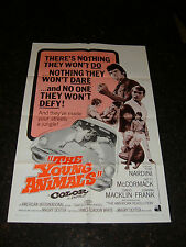"THE YOUNG ANIMALS Original 1968 Movie Poster, 27"" x 41"", C8 Very Fine Condition"