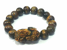 TIGER EYE STONE PI YAO ( PI XIU ) Bracelet  For Protection Prosperity And Luck