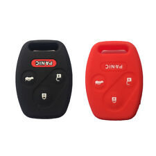 Black and Red Silicone Keyless Entry Remote Key Fob Case Skin Cover for Honda
