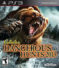Cabela's Dangerous Hunts 2013 (Sony PlayStation 3, 2012) PS3 NEW Factory Sealed