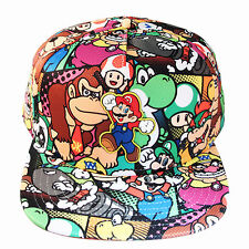 Nintendo Super Mario Bros Sublimated Allover Print Cap Youth Snapback Hat