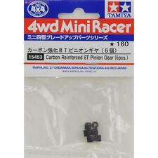 Tamiya 15453 Carbon Reinforced 8T Pinion Gear 6pcs