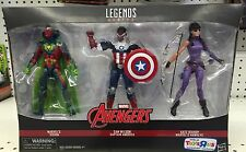 "MARVEL LEGENDS AVENGERS 3 PACK 6"" FIGURES VISION CAPTAIN AMERICA KATE BISHOP TRU"