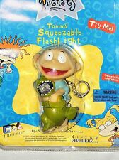 NIB 1997 RUGRATS, TOMMY VINTAGE  SQUEEZABLE FLASHLIGHT ( NEEDS BATTERIES )