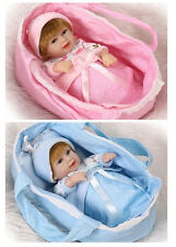 """2pcs 11""""soft silicon vinyl doll Reborn babys twins dreaming doll  Boy AND Girl"""