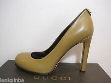Gucci Interlocking GG Round Toe Pumps Shoes Heels 41 11 $495